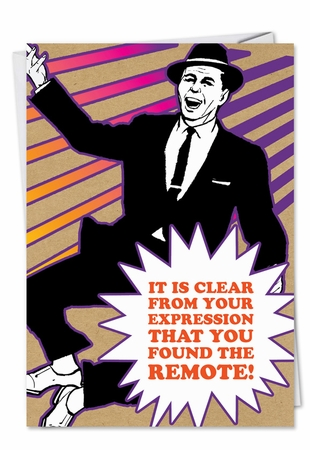 Funny Birthday Father Card From NobleWorksInc.com - Lost Remote Found