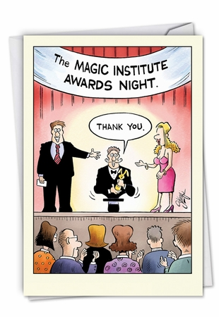 Hilarious Thank You Card From NobleWorksInc.com - Magic Awards