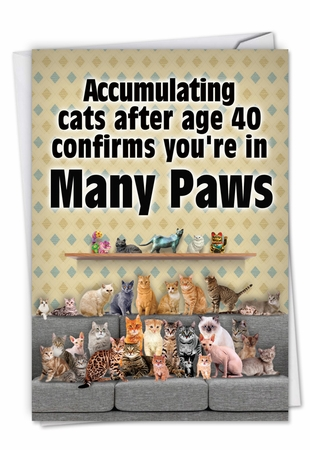 Humorous Birthday Card From NobleWorksInc.com - Many Paws