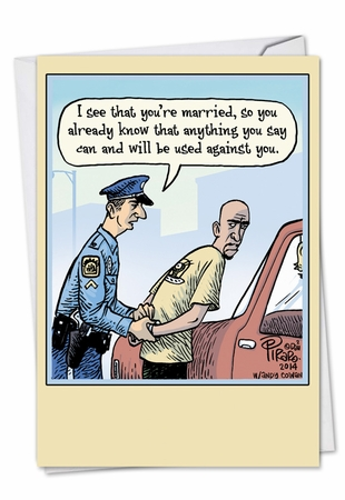 Hysterical Anniversary Card From NobleWorksInc.com - Married Arrest