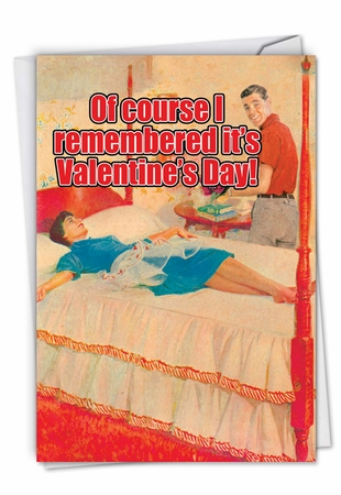 Humorous Valentine's Day Card From NobleWorksInc.com - Memory Foam