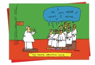 Funny Christmas Card From NobleWorksInc.com - Mental Choir