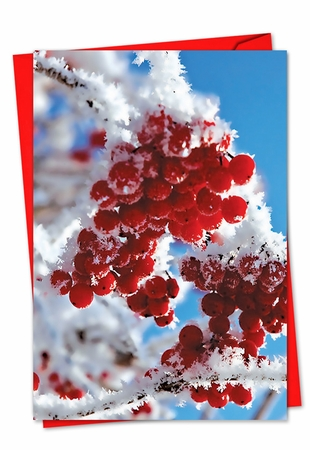 Artful Christmas Card From NobleWorksInc.com - Merry Berries