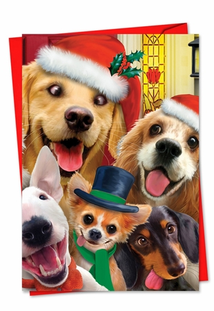 Artful Christmas Card From NobleWorksInc.com - Merry Christmas to Zoo