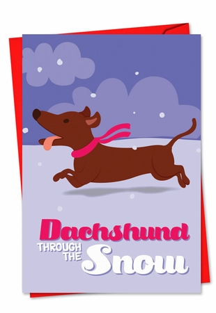 Artistic Blank Christmas Card From NobleWorksInc.com - Merry Pets