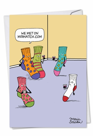 Hysterical Valentine's Day Card From NobleWorksInc.com - Mismatched Socks