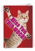 Funny Miss You Card From NobleWorksInc.com - Miss You This Much-Cat