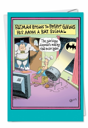 Hysterical Birthday Mother Card From NobleWorksInc.com - Moms Bat Signal