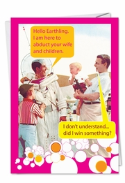 Moon Man Fathers Day Funny Card
