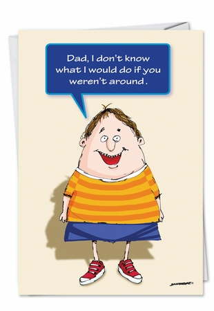 Funny Father's Day Card From NobleWorksInc.com - More Parties