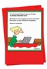 Funny Blank Christmas Card From NobleWorksInc.com - More Successful