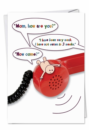 Funny Mother's Day Card From NobleWorksInc.com - Mouth Full