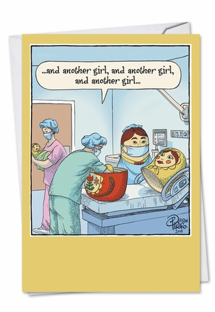 Funny Baby Card From NobleWorksInc.com - Nesting Babies
