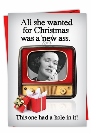 Humorous Christmas Card From NobleWorksInc.com - New Ass