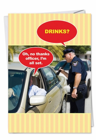 Humorous Birthday Card From NobleWorksInc.com - No Thanks Officer