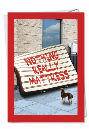 Funny Friendship Card From NobleWorksInc.com - Nothing Mattress