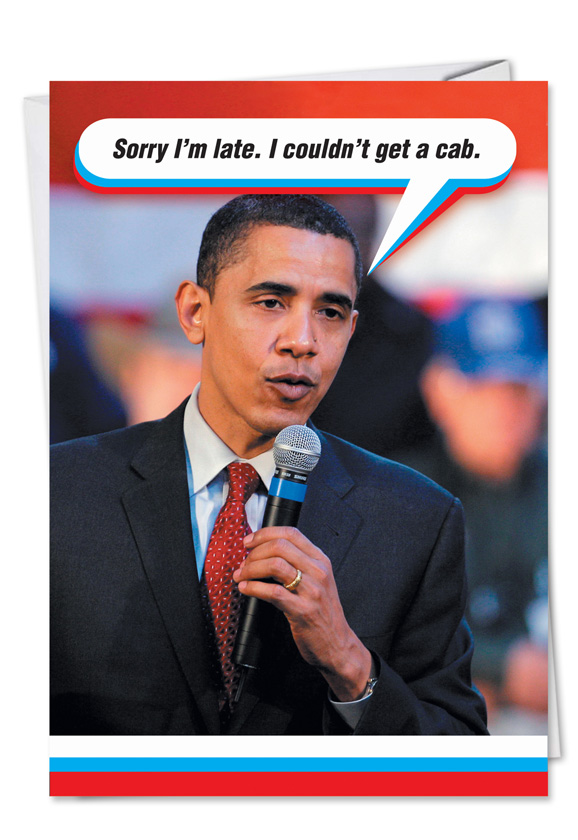 Wholesale Only Obama Cabpolitical Adult Humor Birthday Card