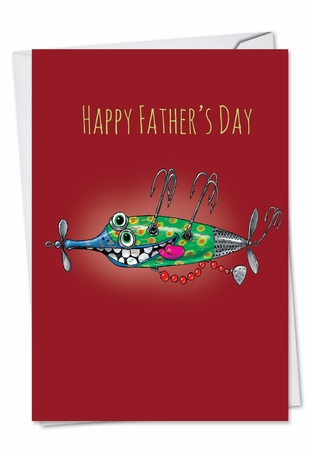 Artful Father's Day Card From NobleWorksInc.com - Off The Hook
