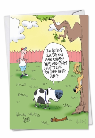 Humorous Birthday Card From NobleWorksInc.com - Old Dog