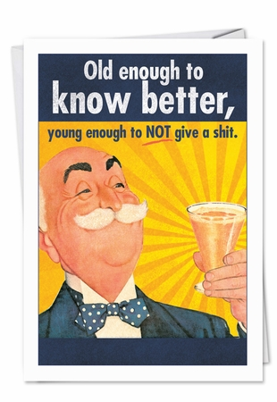 Funny Birthday Card From NobleWorksInc.com - Old Enough