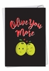 Artistic Valentine's Day Card From NobleWorksInc.com - Olive You More