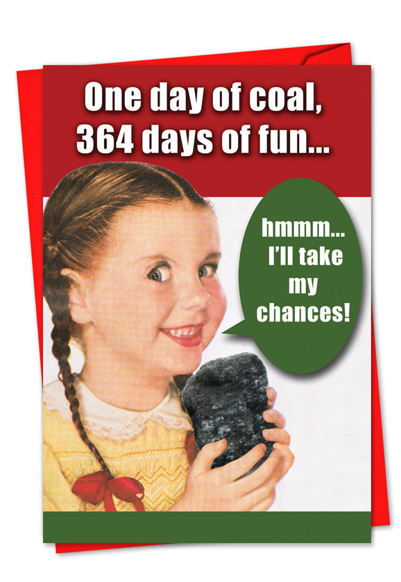 Wholesale one day of coal blank funny greeting card m4hsunfo