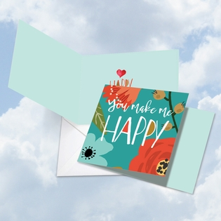 Artistic Valentine's Day Square-Top Card From NobleWorksInc.com - Optimisms