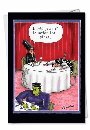 Funny Halloween Card From NobleWorksInc.com - Order the Stake