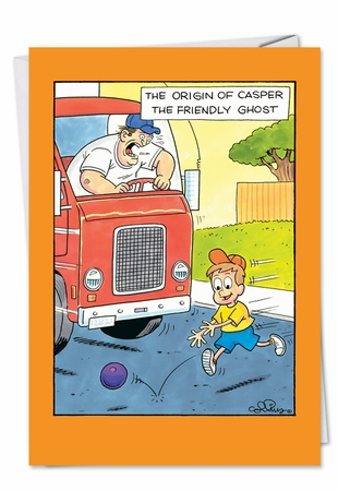 Humorous Halloween Card From NobleWorksInc.com - Origin Of Casper