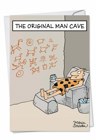 Humorous Birthday Card From NobleWorksInc.com - Original Man Cave