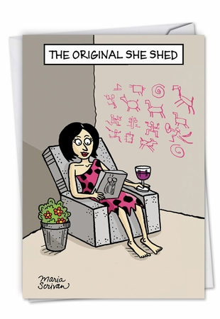 Hilarious Birthday Card From NobleWorksInc.com - Original She Shed