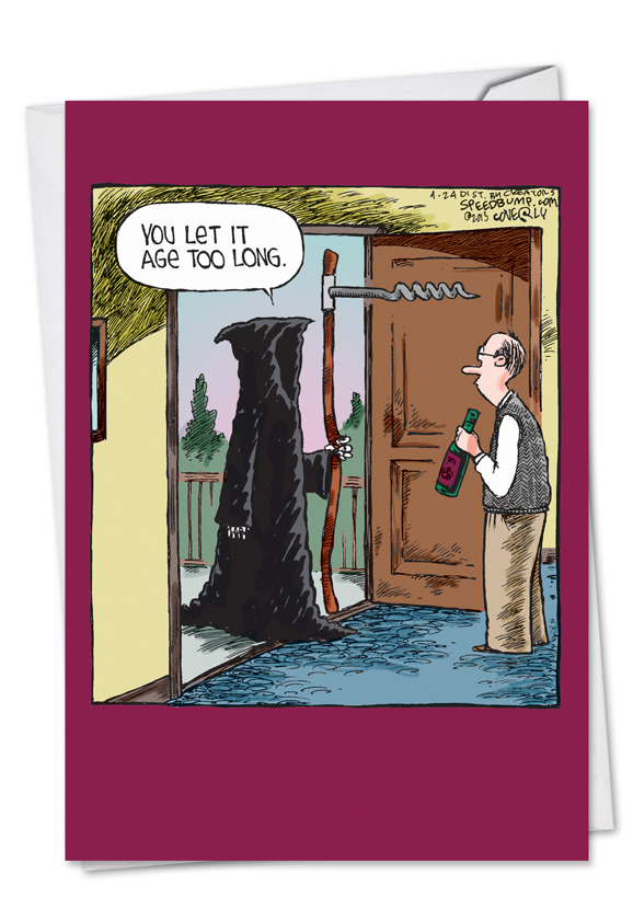Unique Hilariousous Overaged Wine Birthday Card Dave Coverly