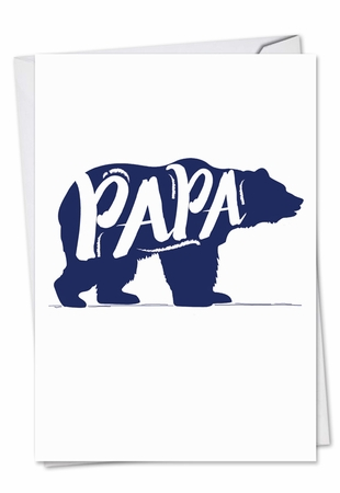 Artful Father's Day Card From NobleWorksInc.com - Papa Bear