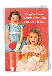 Peggy Is a Whore Funny Valentine's Day Card by NobleWorks