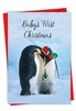 Hysterical Merry Christmas Card From NobleWorksInc.com - Penguins and Greetings-Baby's First Christmas