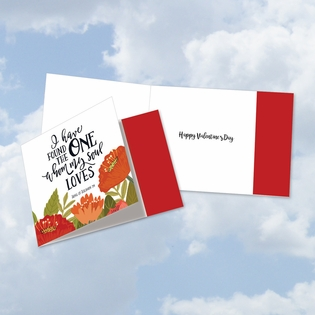 Artistic Valentine's Day Square-Top Card From NobleWorksInc.com - Perfect Love Quotes