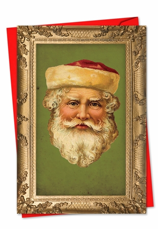Artistic Christmas Card From NobleWorksInc.com - Picture-Perfect Santas