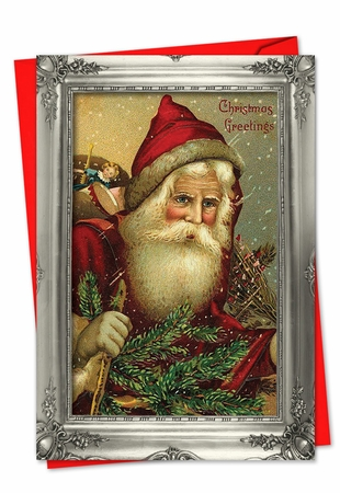 Artful Christmas Card From NobleWorksInc.com - Picture-Perfect Santas