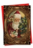 Beautiful Christmas Card From NobleWorksInc.com - Picture-Perfect Santas