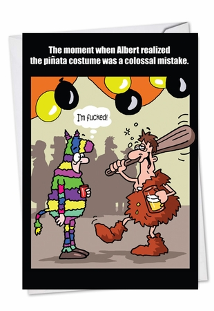 Funny Halloween Card From NobleWorksInc.com - Pinata Mistake
