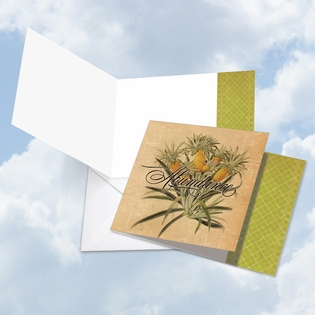 Artistic Blank Square-Top Card From NobleWorksInc.com - Pineapple Plenty Abundance