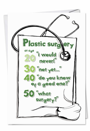 Funny Birthday Card From NobleWorksInc.com - Plastic Surgery