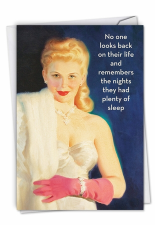 Humorous Birthday Card From NobleWorksInc.com - Plenty of Sleep