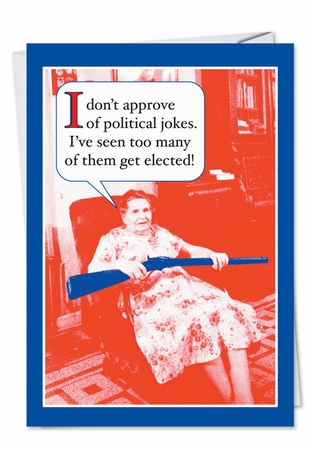 Funny Birthday Card From NobleWorksInc.com - Political Jokes