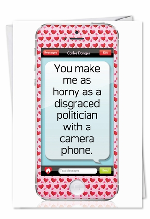 Hilarious Valentine's Day Card From NobleWorksInc.com - Politician With Camera Phone