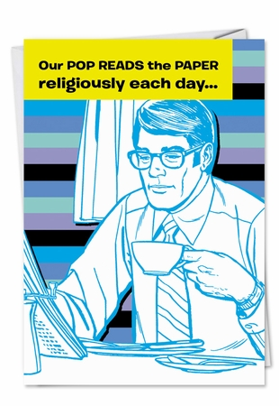 Funny Father's Day Card From NobleWorksInc.com - Pop Reads Paper