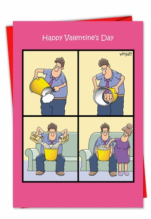 Humorous Valentine's Day Card From NobleWorksInc.com - Popcorn Touch