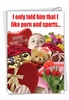 Hysterical Valentine's Day Card From NobleWorksInc.com - Porn and Sports