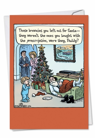 Funny Christmas Card From NobleWorksInc.com - Prescription Brownies