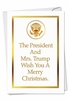 Hilarious Christmas Card From NobleWorksInc.com - President and Mrs. Trump
